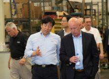 Doosan meeting in the warehouse