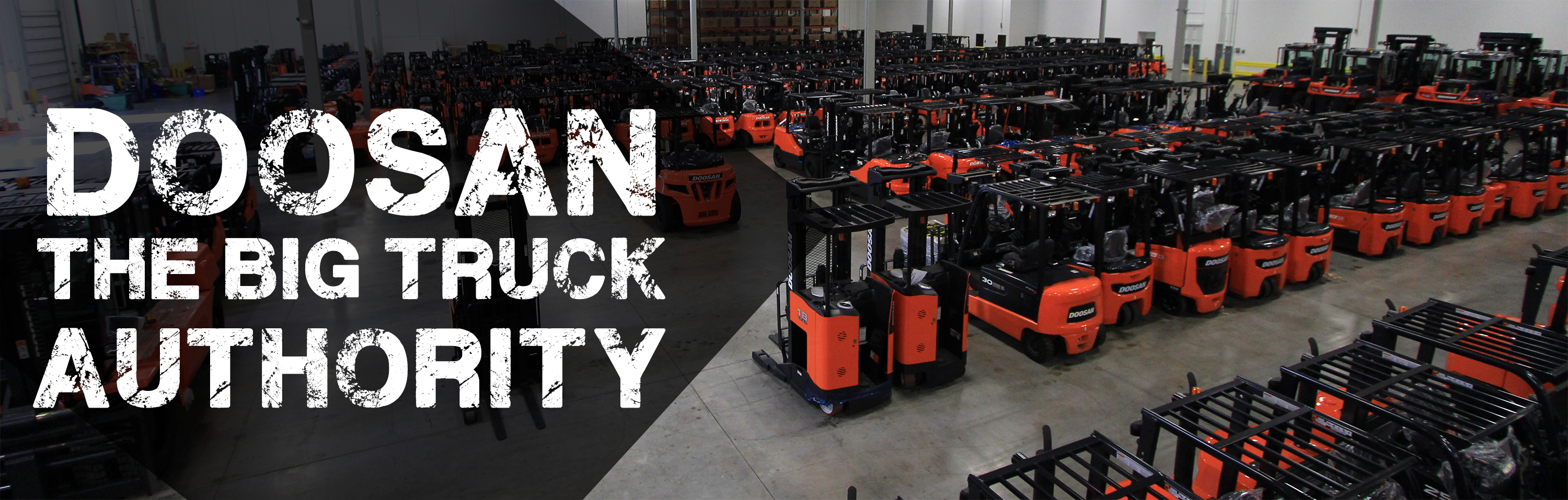 Doosan forklifts in a warehouse