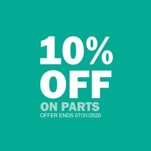 10 percent off deal on parts