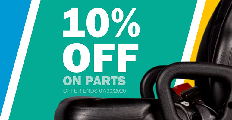 10% off parts banner ad